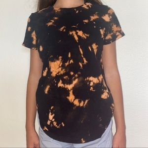 Custom hand bleached Halloween tshirt/top